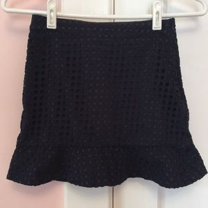 Brooks Brothers Fleece Girls Eyelet Navy Skirt